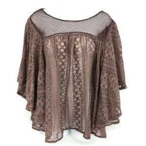 Maurices Flutter Sleeve Blouse Top 1